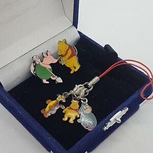 DISNEY-Winnie-the-Pooh-Enamel-Pin-Badges-amp-Clip-On-Charms-Bracelet-Phone-Eeyore