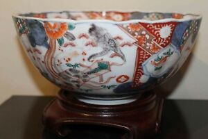 Antique-Chinese-Japanese-Imari-All-Hand-Decorated-Bowl-Unmarked
