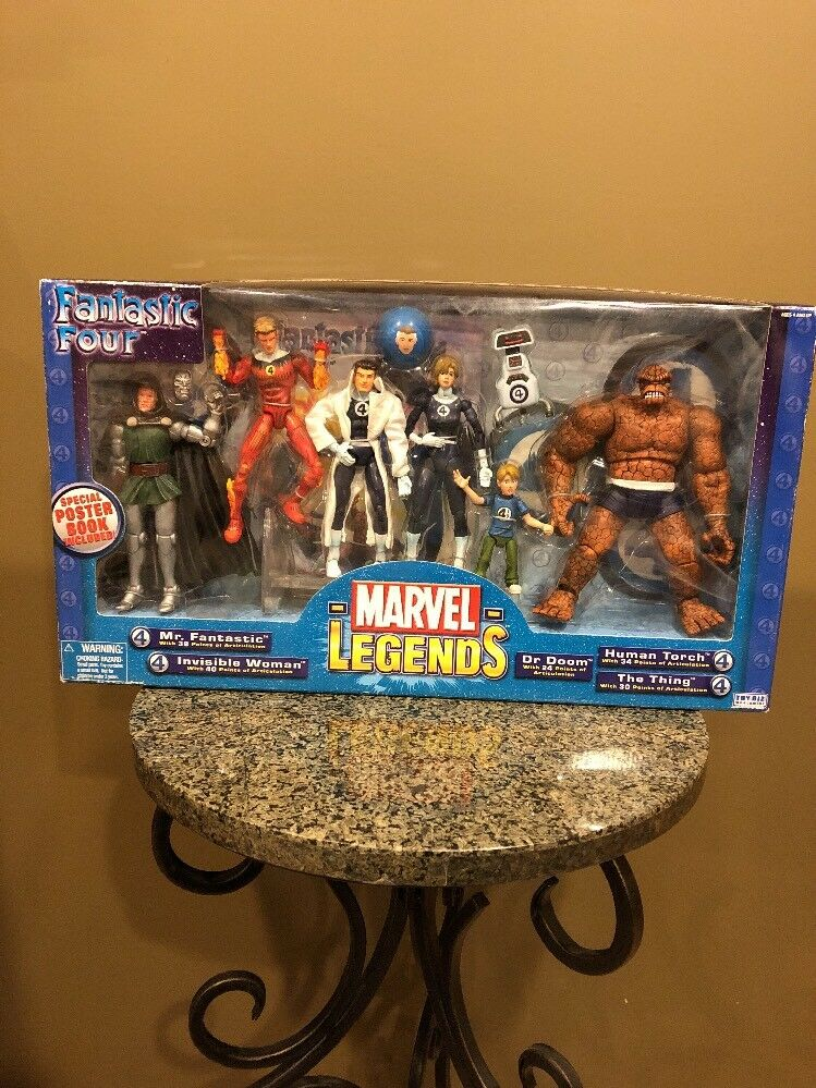 2003 ToyBiz - FANTASTIC FOUR 4 - Marvel Legends Figure SEALED Box Set MISB