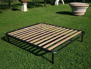 Virgo Réseau Fer a Lattes Bois Hêtre Orthopédique Fixe petit lit double 120x190