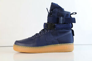 on sale 5b7a5 6ffb3 Image is loading Nike-SF-AF1-Midnight-Navy-Gum-864024-400-