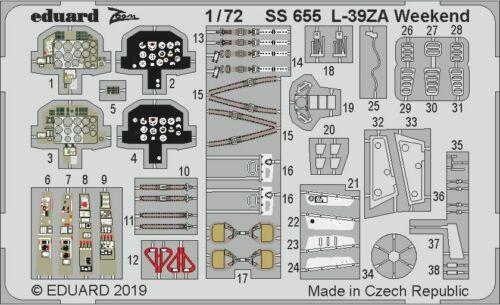 Eduard 1//72 Aero L-39ZA Weekend Detailing Set # SS655