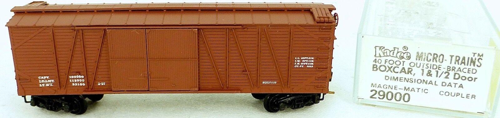 40´ Outside Braced BoxCoche Dimensional Datos Micro Trains Line 29000 N 1 160 C Å