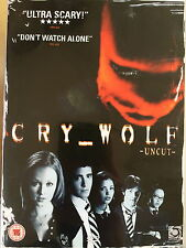 Jared Padalecki Jon Bon Jovi CRY WOLF ~ 2005 Teen Slasher Horror Uncut UK DVD