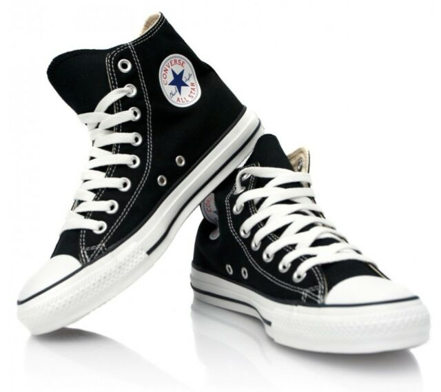 CONVERSE CHUCK TAYLOR BLACK/WHITE HIGH TOP  CANVAS NEW IN BOX SIZES 3.5 TO 12