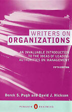Writers On Organizations 5th Edition (Penguin business) by Pugh, Derek S, Hicks