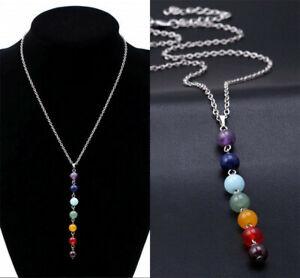 Women-7-Chakra-Beads-Pendant-Chain-Necklace-Yoga-Reiki-Healing-Balancing-Jewelry