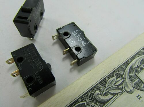Lot 10 Mulon Button Micro Switches Robotics 5 Amp 250VAC Microswitches SL-101