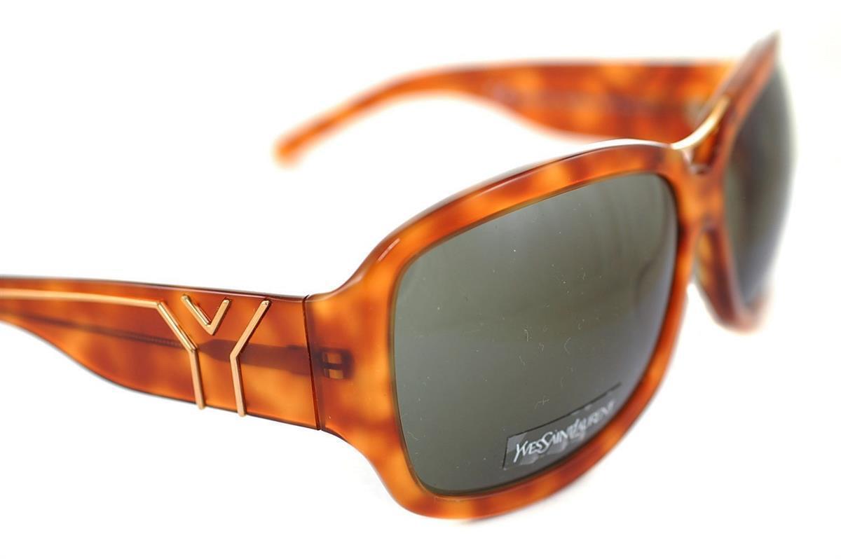 YVES SAINT LAURENT YSL 6208 TEN70 Womens OVERSIZED Sunglasses HAVANA BROWN GREY