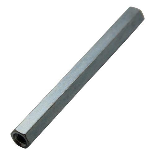 10x TFF-M5X80//DR128 Screwed spacer sleeve Int.thread M5 80mm hexagonal 128X80