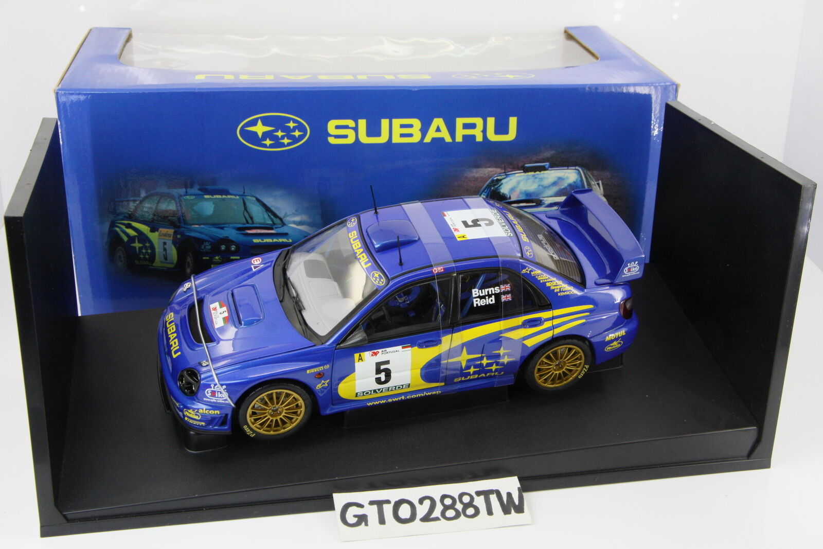 Autoart SUBARU IMPREZA WRC escala 1 18 2001 Rally Portugal  5 (Richard Burns)
