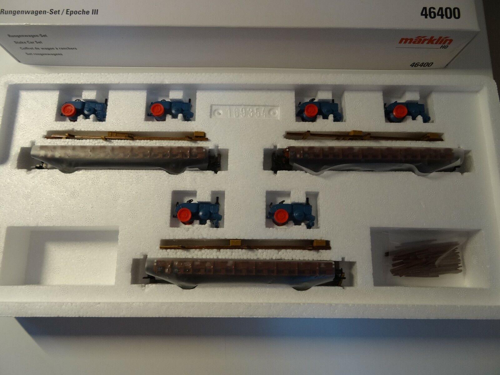 Marklin ho Art 46400 rungenwagenset con tractores nuevo en el embalaje original