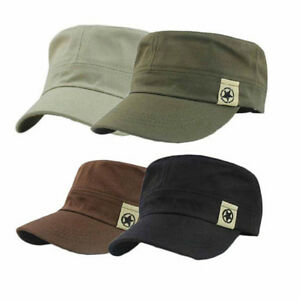 Cappello-Militare-Army-Baseball-Visiera-Piatta-Berretto-Uomo-Donna-Cotone-Cap