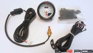 D1 Spec 60 mm JDM Step Motored White Face oil pressure gauge