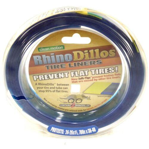 "RhinoDillos pneu Liners 26//24/"" X 1-3//8/"" /& 700x38-40c Vélo Tube Protecteur Paire"