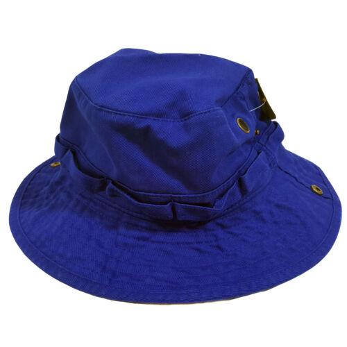 WIDE BRIM FISHING BUCKET BOONIE SAFARI  HAT CAP 100/% COTTON