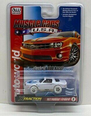 Auto World SC354-5 Muscle Cars USA 1977 Firebird HO Scale Electric Slot Car Orange