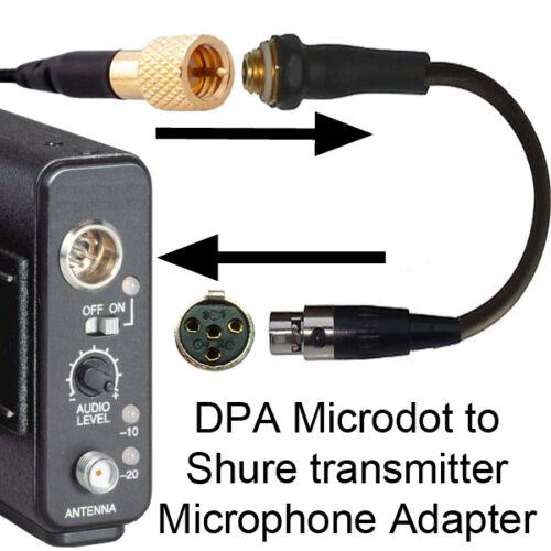 Mikrofon Adapter Landsmann Dpa Microdot Shure Ta4f 4-polig Mini XLR Tqg