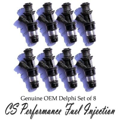 8x rebuild OEM Delphi fuel injectors for 2001-2006 Chevy Silverado 2500 HD 6.0L