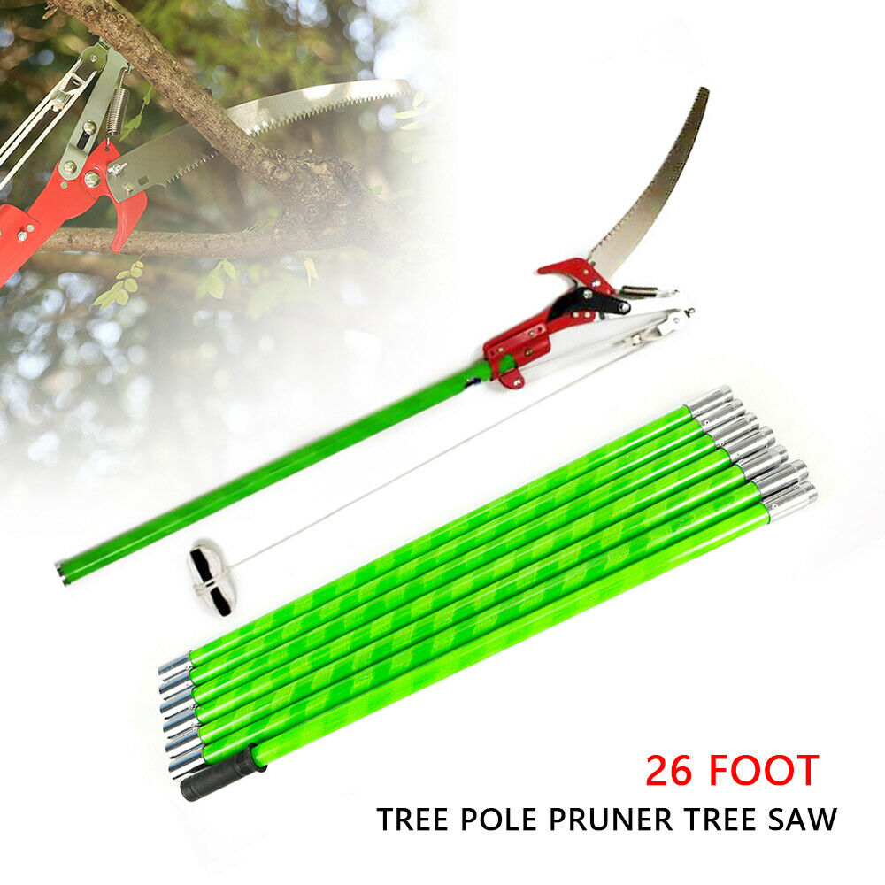 26 Feet Tree Pole Pruner Tree Saw Outdoor Garden Lopper Tool for Garden