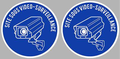 100% Original va056 Humor 2 X Video Surveillance Camera Protection 9cm Autocollant Sticker