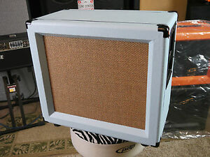Son Set Beach Ssb112 Custom Baby Blue Orange 1x12 Speaker Cab Ready