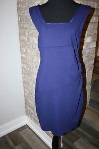 Express-Womens-Dark-Blue-Sleeveless-Stretchy-Bra-Lined-Dress-SZ-12