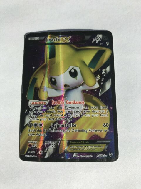 Jirachi EX Plasma Blast Full Art 98/101 HP Pokemon Card + Free Shipping! A