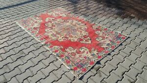 Area-rug-3x6-ft-Turkish-Rug-Anatolian-Rug-Bohemian-Vintage-rug-Oushak-Rug-kilim