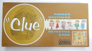 Vintage 1963 Parker Brothers Clue Board Game R13866