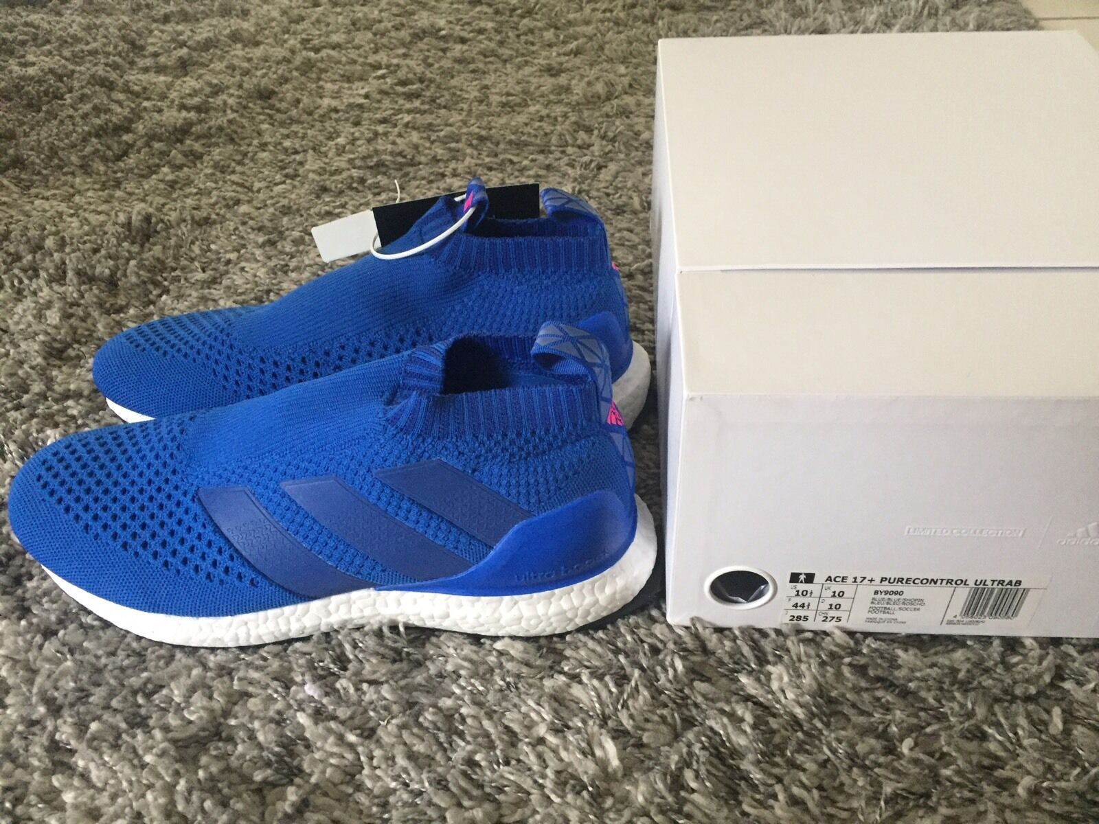 Adidas Ace 16 + 17+ Purecontrol US10.5 UK10 EU44.5 Ultra boost bleu pure control