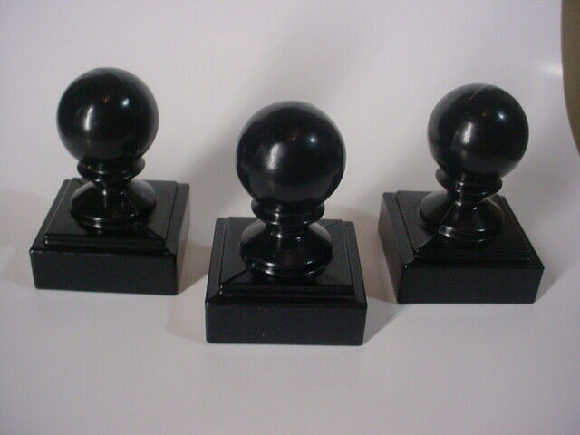 "TRIAD BLACK FINIAL CAST UNIQUE ALUMINUM IRON FENCE FITS 5//8/"" PICKETS 4-1//4/"" 5"