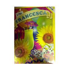 Tarjeta de cumpleaños musical genérico canta nome FRANCESCA y FELIZ En TE