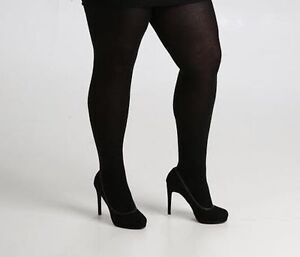 e3337a120632c 140 DENIER OPAQUE BLACK TIGHTS PLUS SIZE 16 TO 32 XL XXL XXXL FROM ...