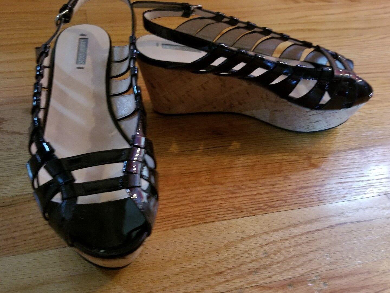 Georgio Armani Armani Armani women Wedge Sandals Size 38.5 8.5US b32a41