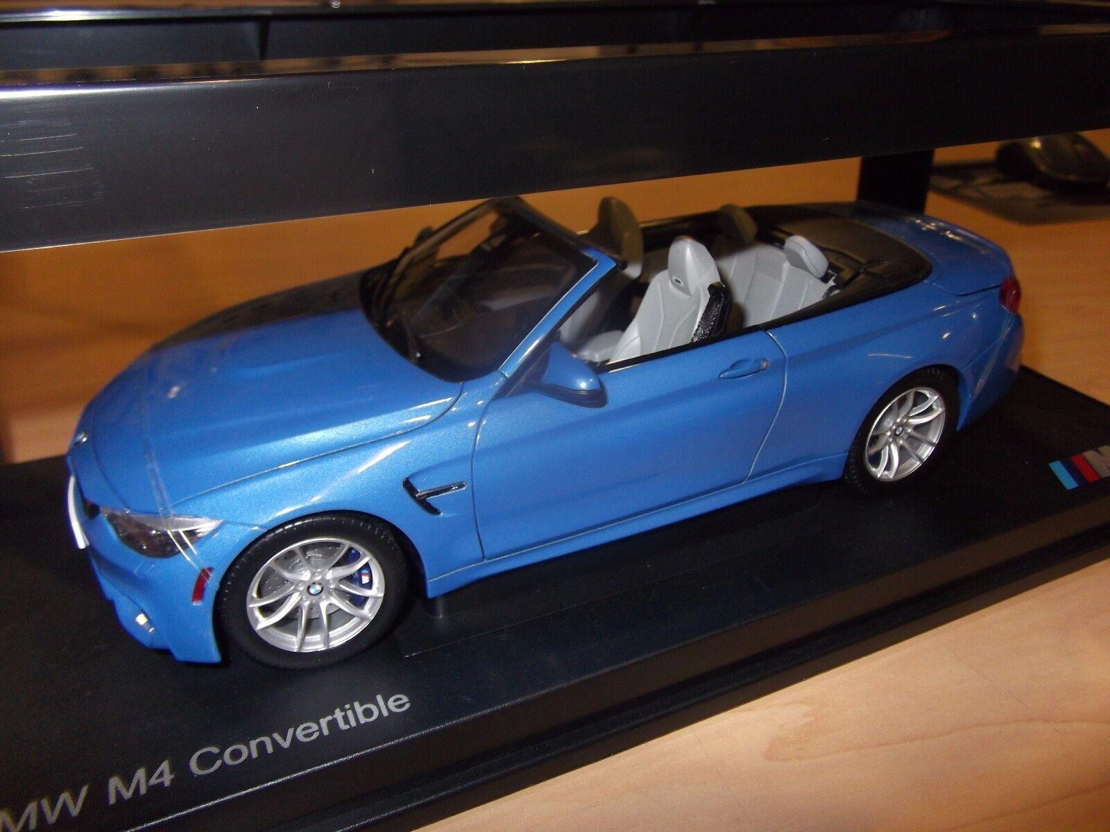 BMW M4 CABRIOLET F83 1 18 scale model miniature voiture bleu 80432339612 OEM