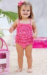 291c31ca14 Mud Pie Summer Fun Pink Ruffle Swimsuit 0-6M 6-9M 9-12M 12-18M ...