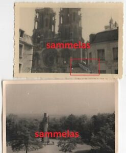2-x-WK2-Foto-Laon-Frankreich-Kathedrale-Kriegerdenkmal-Wehrmacht-P414