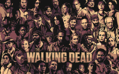 The Walking Dead Comic Rick Daryl Magie Silk Poster Wallpaper 22x 14 Inch Ebay