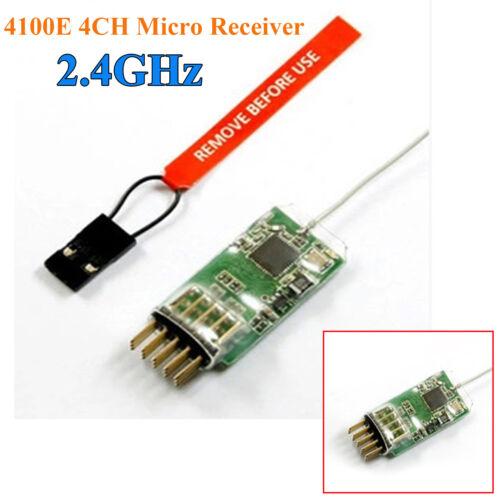 4100E 2.4G 4CH Mikro Receiver Empfänger für JR SPEKTRUM Sender DX7 DX8 DSX7 DSX9