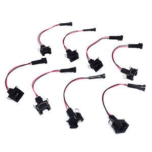 LQ9 4.8 5.3 6.0 Delphi wire Harness to LS1 LS6 LT1 EV1 Injector Adapters 8x LQ4