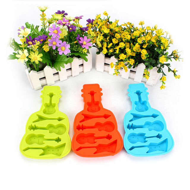 Guitar Silicone Mold Fondant Cake Chocolate Decorating Baking Tools Mould eo