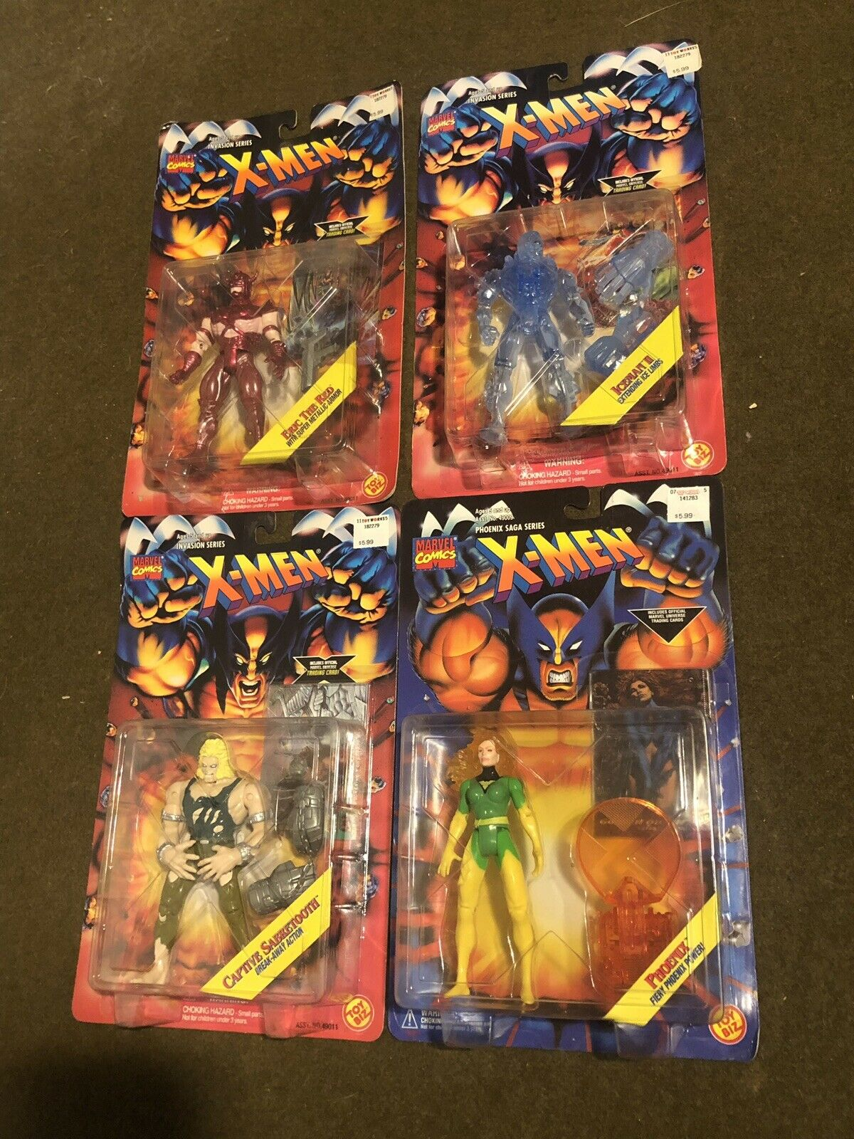 Xessi PHOENIX SABRETOOTH ICEuomo ERIC THE rosso 4 cifra LOT SEALED MARVEL giocattoloBIZ