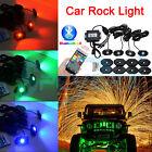 4x 9W CREE RGB LED Off-road Rock Lights Bluetooth Music Flashing Truck Jeep 4WD
