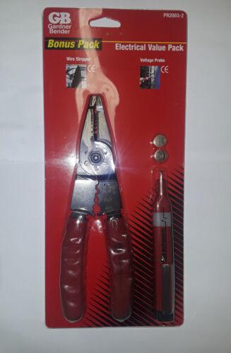 Gardner Bender PR2003-2Wire Stripper /& Voltage ProbeBonus Pack New!