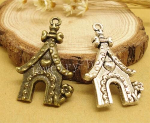 6//30//150pcs Lot Tibetan Silver DIY House Jewelry Charm Pendant 31x20mm A864J