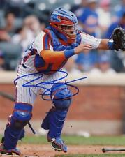 RENE RIVERA NEW YORK METS SIGNED AUTOGRAPHED ACTION 8X10 PHOTO W/COA