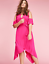 New-LANE-BRYANT-Cold-Shoulder-Sharkbite-Maxi-Dress-Pink-Magenta-Plus-24-26-28 thumbnail 5