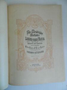 Spartito Lieder Ohne Worte Mendelssohn Instrumental Und Pianoforte Lipsia Peters