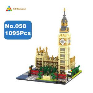 YZ Architecture Elizabeth Tower Big Ben Mini Diamond Building Nano Blocks Toy